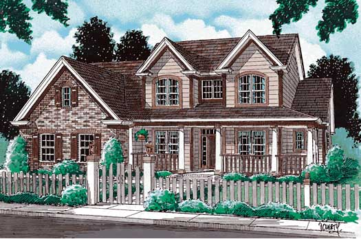 Country Style House Plans Plan: 11-125