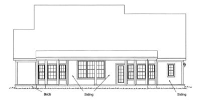 Rear Elevation Plan: 11-125