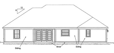 Rear Elevation Plan: 11-126
