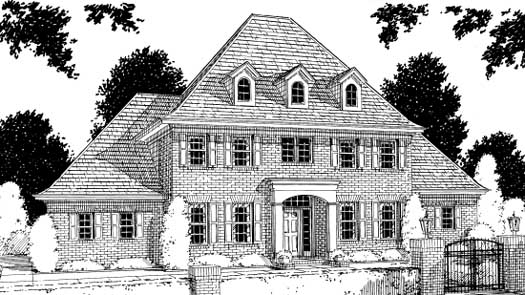 Early-american Style Floor Plans Plan: 11-129