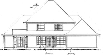 Rear Elevation Plan: 11-129