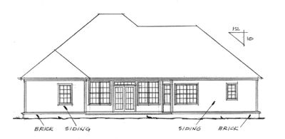 Rear Elevation Plan: 11-130