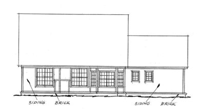 Rear Elevation Plan: 11-131