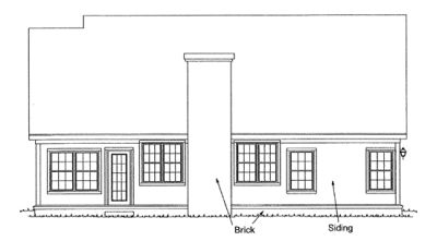 Rear Elevation Plan: 11-132