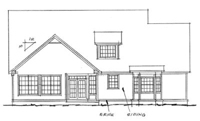 Rear Elevation Plan: 11-133