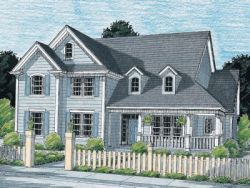 Country Style Home Design Plan: 11-134
