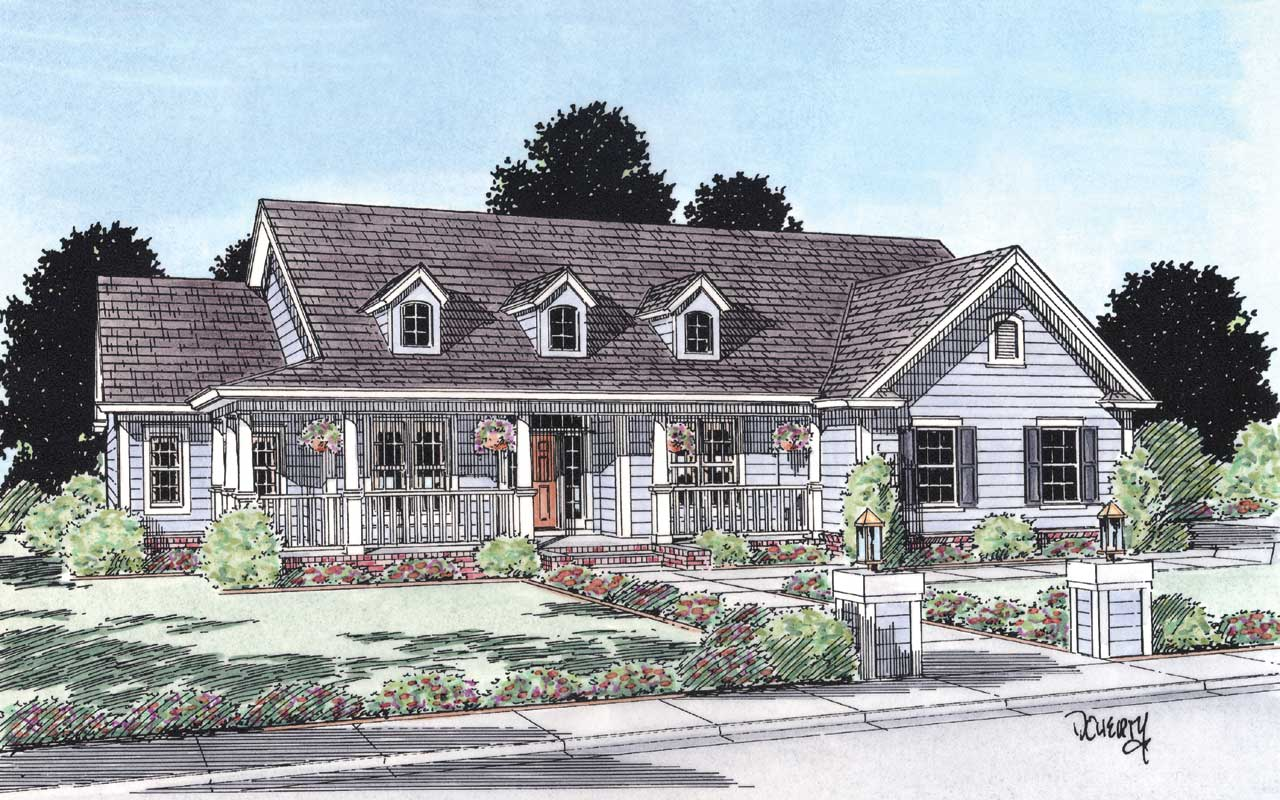 Country Style House Plans Plan: 11-135
