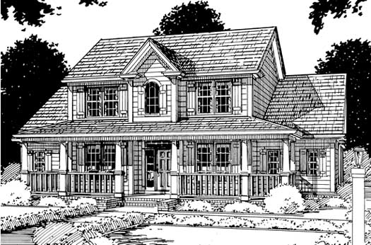 Country Style Home Design Plan: 11-136