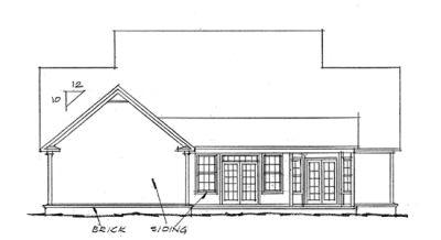 Rear Elevation Plan: 11-136