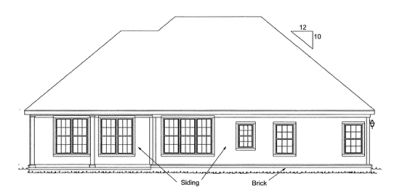 Rear Elevation Plan: 11-137