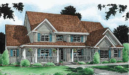 Country Style Home Design Plan: 11-138