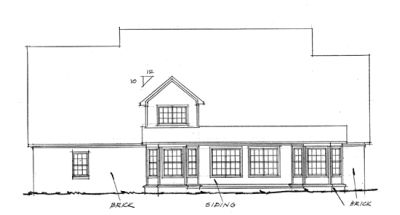 Rear Elevation Plan: 11-138