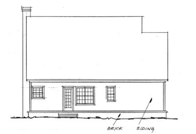 Rear Elevation Plan: 11-140