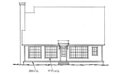 Rear Elevation Plan: 11-141