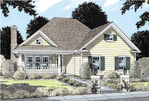 Country Style Home Design Plan: 11-142