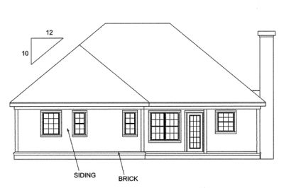 Rear Elevation Plan: 11-142