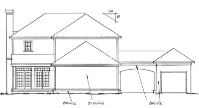 Rear Elevation Plan: 11-143