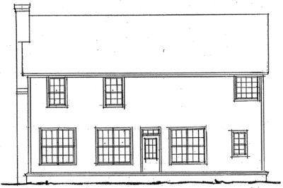 Rear Elevation Plan: 11-144