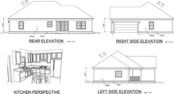 Rear Elevations Plan:11-145