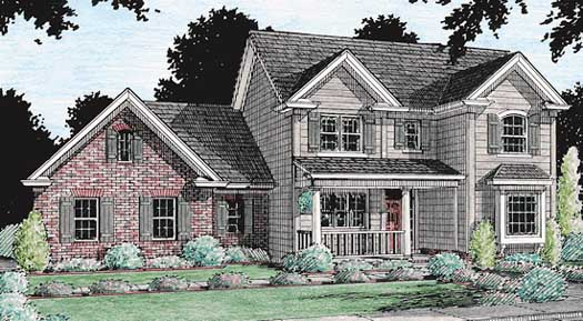 Country Style Home Design Plan: 11-147