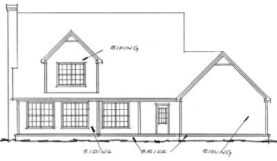 Rear Elevation Plan: 11-147