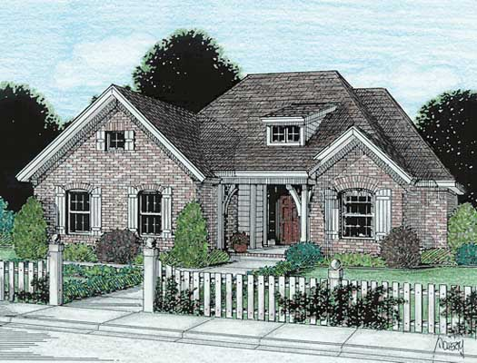 Traditional Style Home Design Plan: 11-148