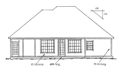Rear Elevation Plan: 11-148