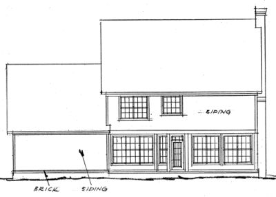 Rear Elevation Plan: 11-149