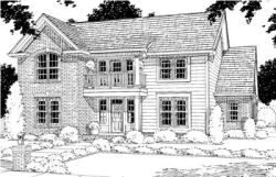 Traditional Style Home Design Plan: 11-150