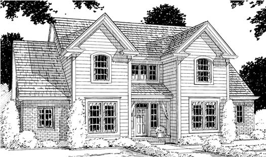 Traditional Style Home Design Plan: 11-151