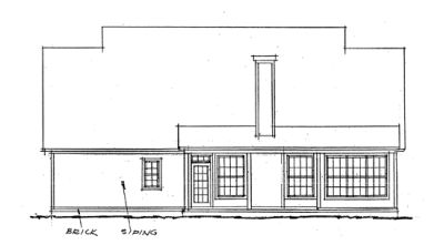 Rear Elevation Plan: 11-151