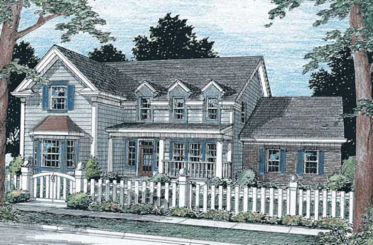 Country Style Home Design Plan: 11-152