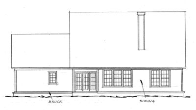 Rear Elevations Plan:11-152
