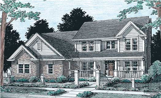 Country Style Home Design Plan: 11-153