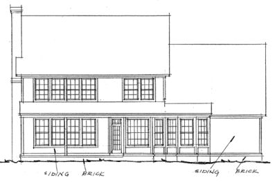 Rear Elevation Plan: 11-153