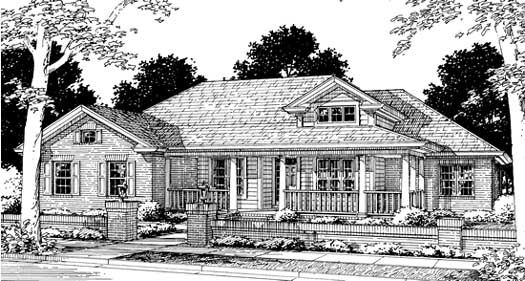 Country Style Floor Plans Plan: 11-154
