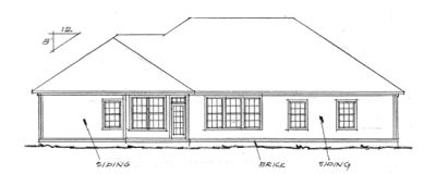 Rear Elevation Plan: 11-154