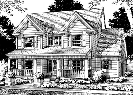 Country Style House Plans Plan: 11-155