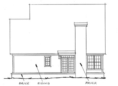 Rear Elevation Plan: 11-155