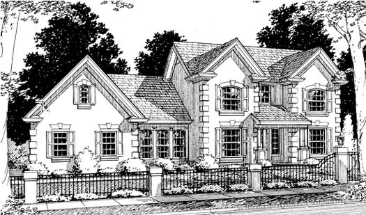 European Style Floor Plans Plan: 11-156