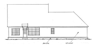 Rear Elevation Plan: 11-156