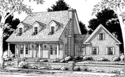 Country Style Floor Plans Plan: 11-157