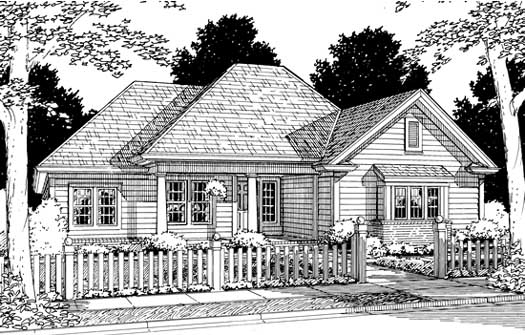 Traditional Style Home Design Plan: 11-158