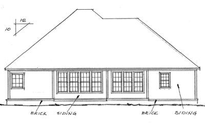 Rear Elevation Plan: 11-158