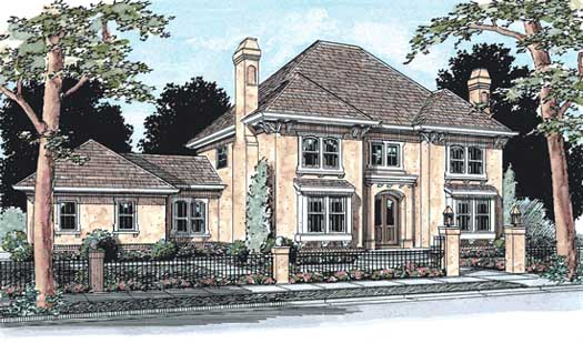 European Style House Plans Plan: 11-159