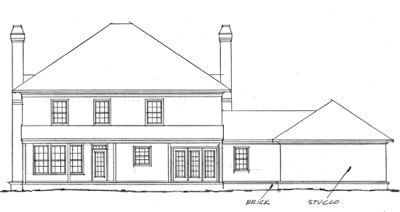 Rear Elevation Plan: 11-159