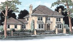 European Style Floor Plans Plan: 11-159