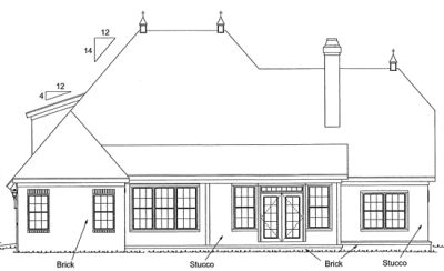 Rear Elevation Plan: 11-160