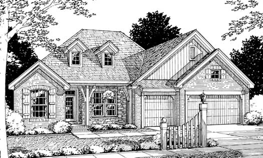 Traditional Style Home Design Plan: 11-162