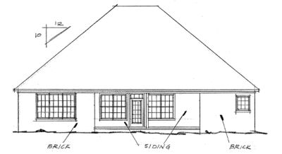Rear Elevation Plan: 11-162